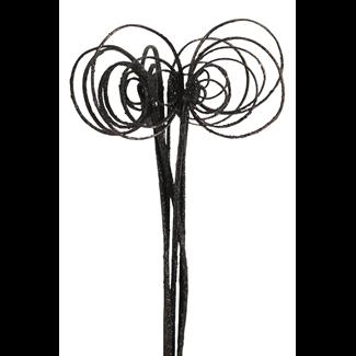 Cane Circles (10 stem) Black glitter