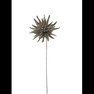 Foam Dahlia Flower (40 inch) - Taupe/White