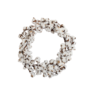 Cotton Wreath - Large  (61cm)- Artificial