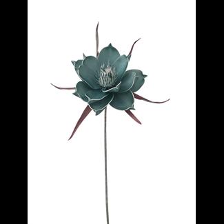 Foam Pandula Flower (24 inch) - Aqua