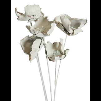 Palm Caps (6 stem) White glitter